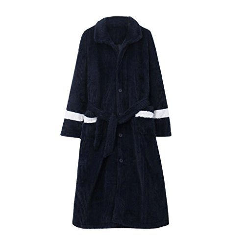 Bathrobes ZLR Winter Men's Thickening Warm Sleep Robe Men's Pajamas Home Clothes