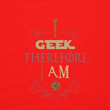 TEXLAB - I geek therefore I am - Damen T-Shirt Rot