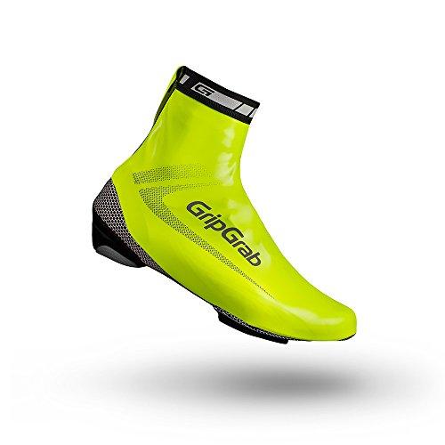 GripGrab Raceaqua Hi-Vis Überschuhe Rennrad, Fluo Yellow, L (EU 42-43) (Überschuhe Damen)