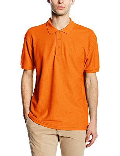 Fruit of the Loom Herren Poloshirt 65/35 Pique Polo Orange - Orange