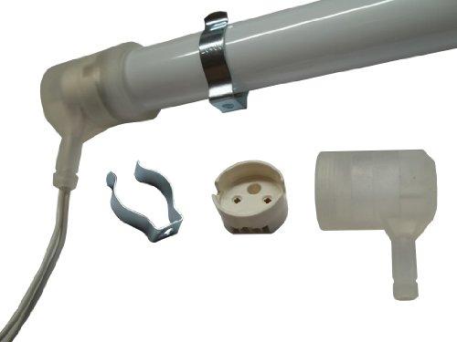 Aura IP54 Set je 2 Schutzkappen, Fassungen, Lampenhalter für Leuchtstofflampe T5 16mm - T5 Fassung