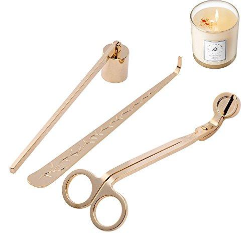 Kerzenlöscher Dochtschere Edelstahl Set von 3 Candle Care Kit / Kerze Zubehör