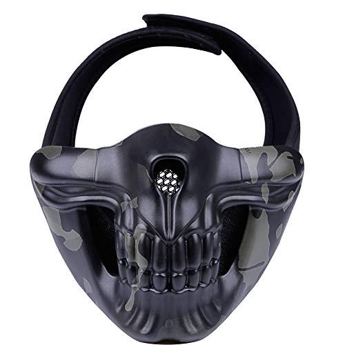 TZTED Taktischer Totenkopf Schutz Masken Für Airsoft Paintball CS Krieg Spiel BB Gun Cool Scary Ghost Halloween Party Maske,A (Scary Maske Ghost)