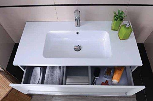 Lavabo Con Mobiletto Sospeso : Yellowshop mobile mobiletto sospeso da bagno in legno cm