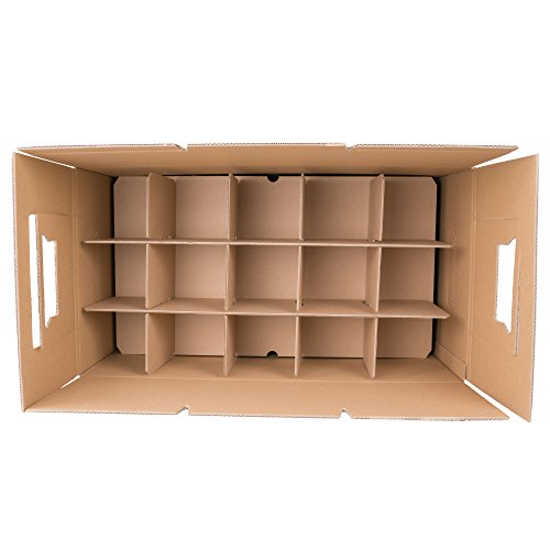 25 Gläserkartons mit 30/15 Fächern Flaschenkartons für Umzug Verpackung Umzugskartons -