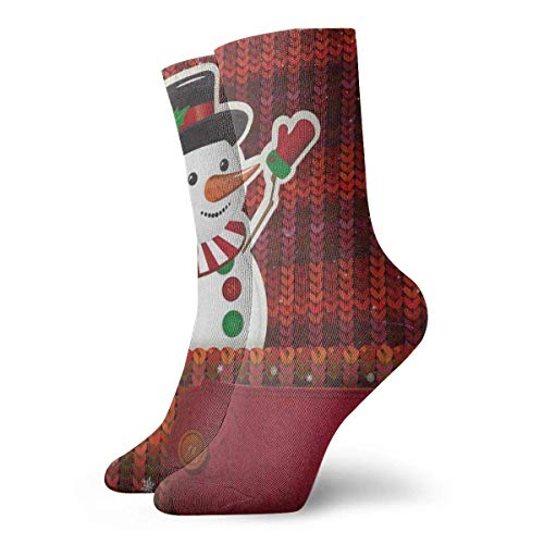 REordernow Sportliche Herrensocken Crew Socks Cartoon Snowman Christmas Snowflake Vintage Mens Short Boot Stocking Decor Sock Clearance for Man