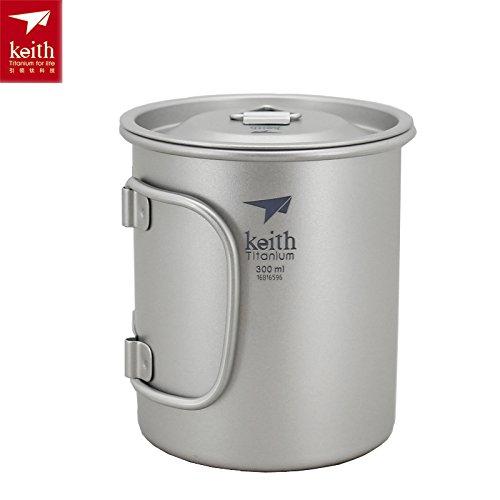 Keith Titan Becher Outdoor Mug Camping Tasse Mit Deckel Picknick Geschirr(300ml.Ti3201)
