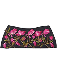 Soulful Threads Hand clutch in Cotton Silk fabric with elegant Embroidery