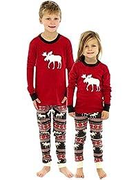 LAEMILIA 2PCS Noël Fille Déguisement Enfant Bébé Cosplay Vêtement de Nuit Ensemble Pyjama Hauts