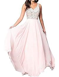 Topkleider Damen Exquisite Prinzessin Paillette V-Neck Stein Abendkleider  Promkleider Ballkleider Lang 775892d93b