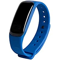 JMung'S Bracelet De FréQuence Cardiaque Intelligent Gel de silice PC Avec La PréVision TempéRature MéTéO Grand éCran Appelant ID67 Professionnel éTanche, Pour Android Et iOS