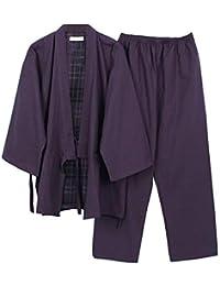 yukata de los hombres Robes Kimono Robe Khan pijamas de ropa al vapor