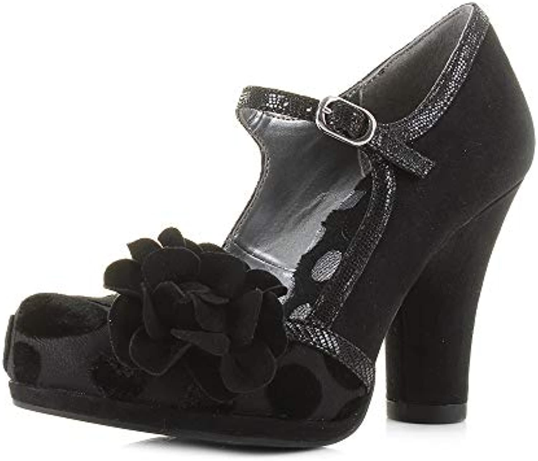 Ruby Shoo Ladies Hannah Nero 1950'S Vintage Inspirosso Inspirosso Inspirosso Vegan Friendly scarpe 09219-UK 7 (EU 40) | Per tua scelta  48f4fb