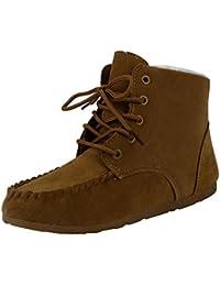 Ularma Zapatos de las mujeres, Clásico corto de invierno algodón botas