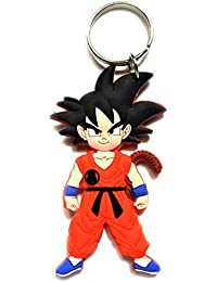 Blue Aura Dragon Ball Z Goku Double Sided Rubber Keychain Collectible Gifting Car Keychain Bike Keychain