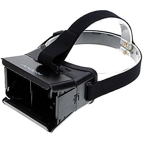 Andoer - Gafas 3D Realidad Virtual de Google Reproductor de Video Compatibles con Smartphones de 3.5