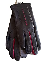 e6cd197ffd Womens Ladies Real Leather Stitch Detail Touch Screen Gloves with gift box