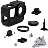 Deyard Aluminum Alloy Protective Cage Housing Frame Case With 37mm UV Lens Filter And Cap For GoPro Hero 4 And GoPro Hero 3+ Action Camera