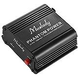 Muslady Micrófono Ultracompacto Fuente de +48 Alimentación Phantom Vcon Entrada y Salida XLR para Condensador Micrófono Estud