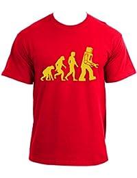 The Big Bang Theory Robot Evolution Red T-shirt tee
