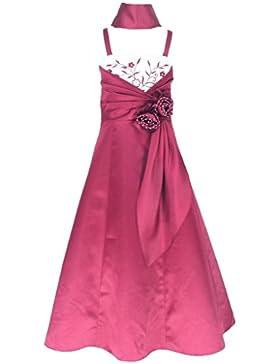 Satin Brautjungfern Anlässe Festkleid Blumenmädchen Kleid