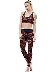 chaleco de moda, ropa de mujer yoga traje de dos piezas Running ajustados pantalones elásticos , A , xl