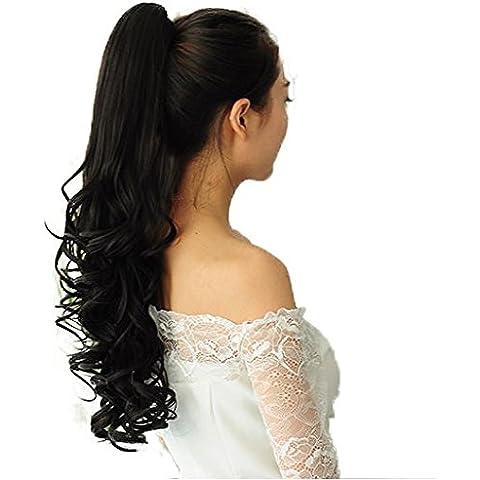 PRETTYSHOP 60 Coda di cavallo di estensioni dei capelli pezzo fibre sintetiche e resistente al calore diversi colori H48