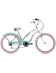 KS Cycling Beachcruiser Paradiso Vélo Femme, Blanc