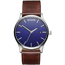 MVMT Watches Classic Herren Uhr Blue/Brown Leder Armband MM01BBL