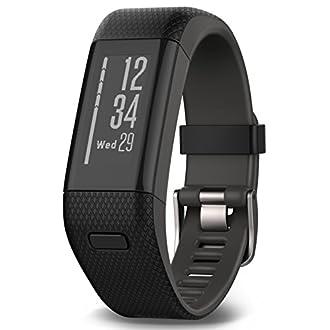 Garmin Vívosmart HR+ - Bracelet de Fitness avec GPS et Cardio Poignet- Taille Regular - Noir