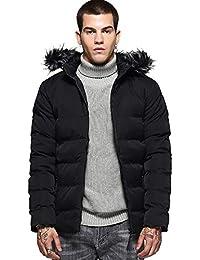 29ca762b410 ZHONGHAO® Doudoune en Coton Homme Casual Chaud Manteau Plus Epais Blouson à  Capuche Veste Hiver