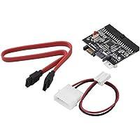 UniqueHeart Adaptador IDE to SATA Serial-ATA Bilateral HDD Adapter Negro Compatible con ATA 100/133
