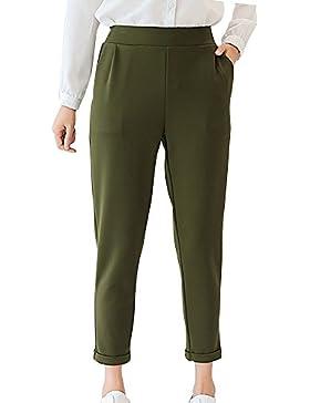 Yonglan Mujer Pantalones Rectos