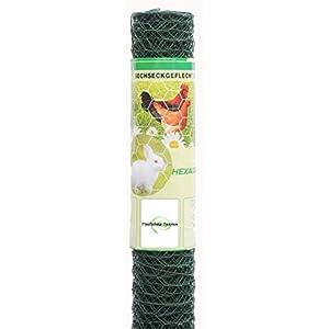 Kaninchendraht Sechseckdraht grün beschichtet 25x0,8x750 mm 25 m Maschendrahtzaun