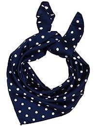 SXON Couleur Bleu Classique Traditionnel Foulard Carré Echarpe à Pois Blanc  ... 3600dec6dcd