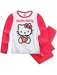 Hello Kitty Pyjama (Velours) - rot - 140