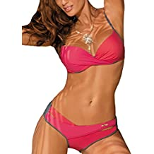 b4e2d381088b96 Marko Christina M-348 Bikini Set Dame Bademode Bügel regulierbar musterlos