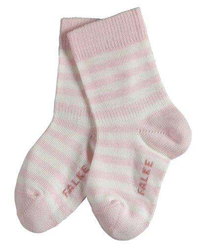 Falke Stripe SO 10045 Unisex - Baby Babybekleidung/ Söckchen, Gr. 74-80, rosa (powderrose )