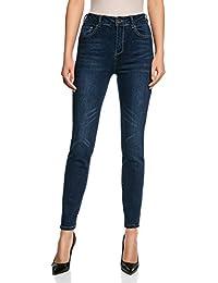 oodji Ultra Donna Jeans Slim Fit a Vita Alta