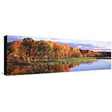 Fall Golf Course New England Leinwand von Panoramic Images - 30x91 cm