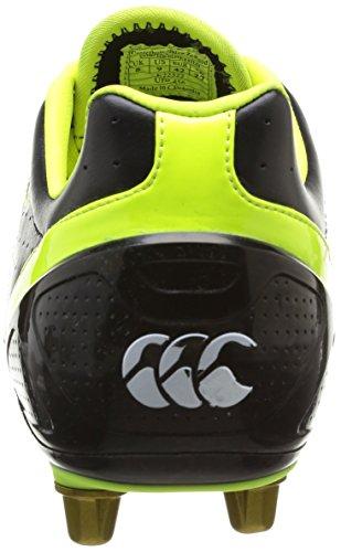 Canterburry Stampede Club 8 Stud, Chaussures de sports en salle homme Noir (01 Noir Jaune Sulphure)
