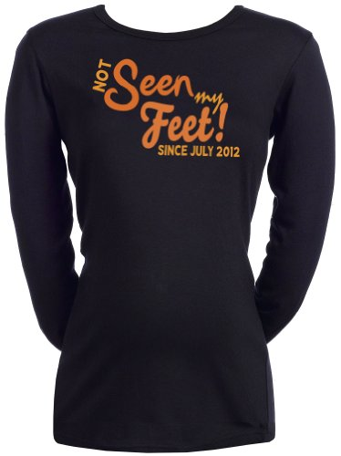 Spoilt Rotten CUSTOM Seen My Feet? - Femmes T-shirt de grossesse Top Noir, L
