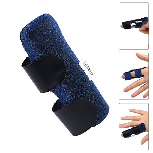 Hossom Férula del Dedo, Dedo Extensión Férula para Dedo en Gatillo,Lanzamiento del Tendón del Dedo y Correa de Fijación del Alivio del Dolor con Ayuda de Aluminio Incorporada