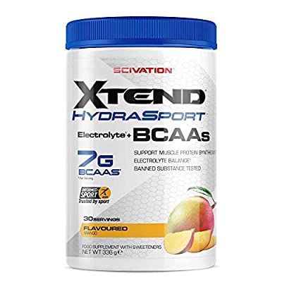 Scivation Xtend Hydrasport BCAA Powder, Branched Chain Amino Acids, BCAAs, Zero Sugar Electrolyte Drink Powder + Hydration from Nutrabolt
