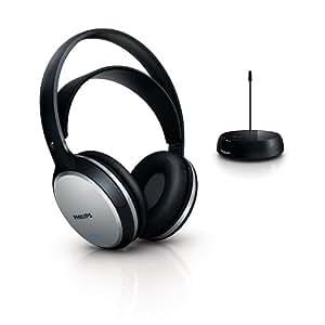 Philips SHC5100 Cuffie Hi-Fi FM Wireless Ricaricabili, Nero/Argento