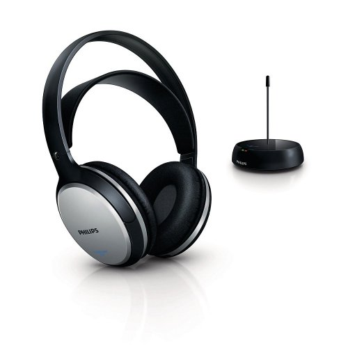 Philips SHC5100 Hi-Fi FM Wireless Ricaricabili, Nero/Argento