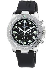 Zeno Watch Basel Hercules Chrono Big Date 3654/BK - Reloj de caballero de cuarzo, correa de goma color negro