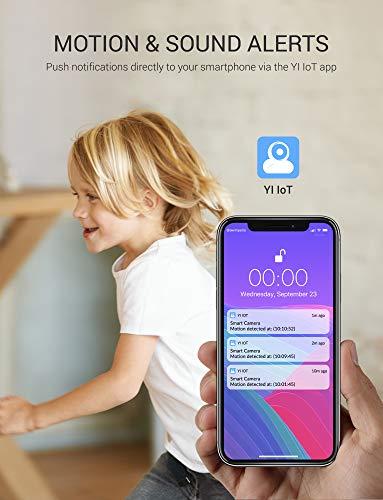 YI IOT Überwachungskamera mit Personendetektion WLAN IP Kamera HD 1080P mit Nachtsicht 2 Wege Audio Diebstahlsicher mit Kostenloser Cloud-Speicherung