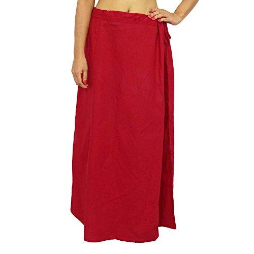 Coton Saree Petticoat Underskirt Bollywood Doublure Pour Sari Usure ethnique