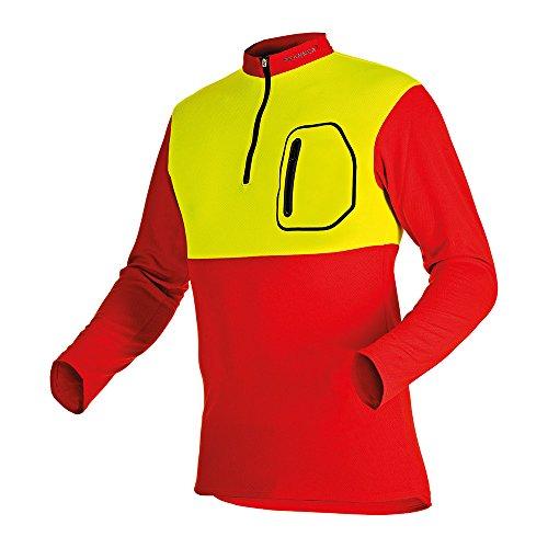 Pfanner 104060-60/XL Forst-Shirt mit Langarm Größe XL in rot / gelb